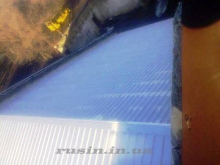 фото крыши из профнастила