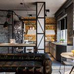 кухня-студия лофт