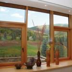 фото деревянное евроокно
