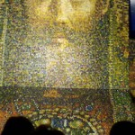 мозаика из деревянных яиц