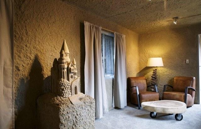 внутренее убранство отеля из песка