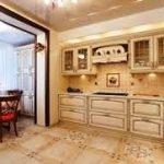 фото бежевая кухня
