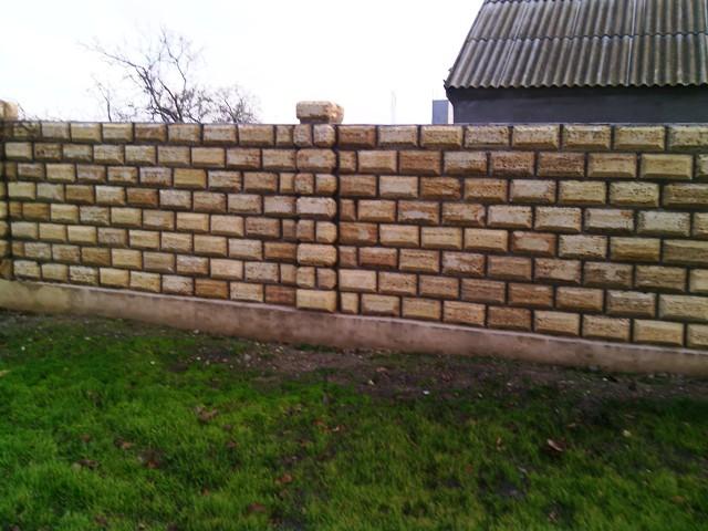 фото забор из ракушняка