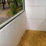 утепление пенопластом балкона