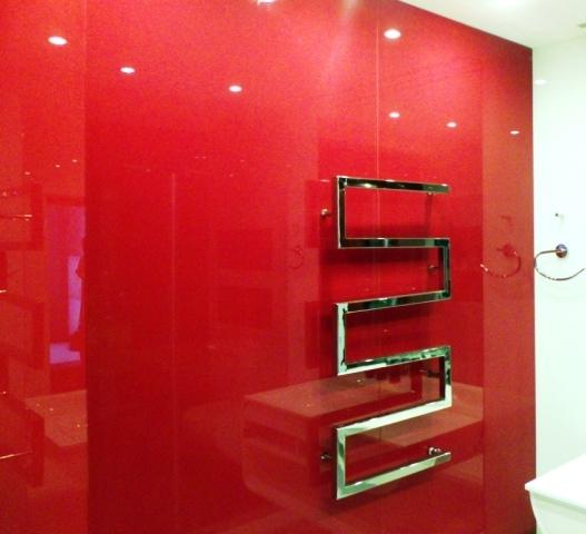 стеклянные панели ванная фото