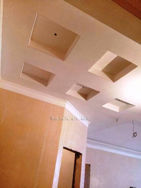 гипсокартонный многоуровневый потолок фото