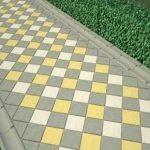 бетонное покрытие двора