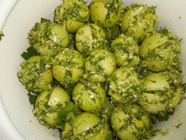 квашеные зеленые помидоры рецепт
