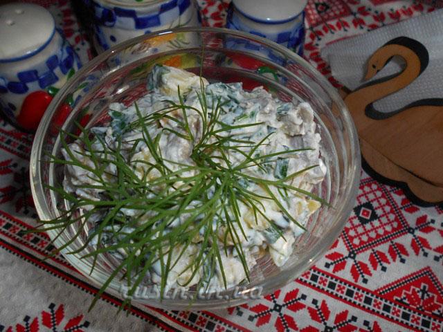 картофельный салат фоторецепт