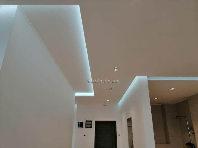 скрытая подсветка потолка фото