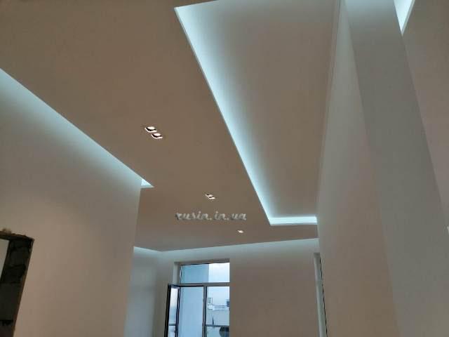 скрытое освещение потолка