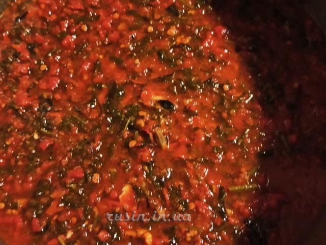 вкусный томатный соус на зиму