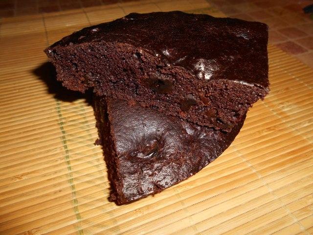 влажный постный шоколадный пирог