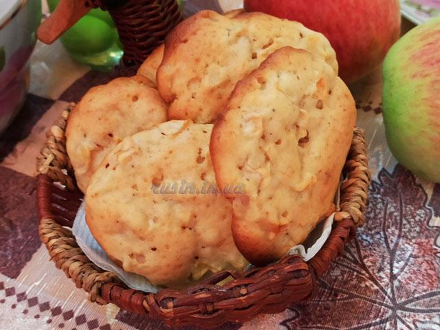 Мягкое яблочное печенье в духовке